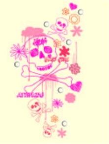 粉色碎花骷髅头抽象图案矢量素材EPS免费下载 红动网