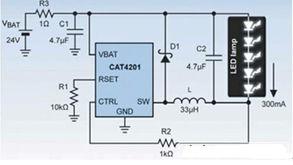 ...201驱动5个1W的LED.-教你如何利用电感型转换器提高LED转换效率