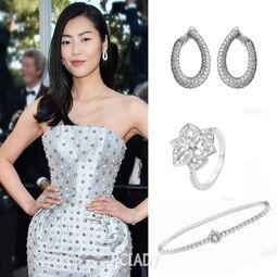 闪耀耳畔.两串Ava手环及Pensee de Diamants紫罗兰戒指,皆以纯洁...