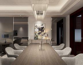 简约装修效果图:黑白灰经典搭配的范10万装修90平简约温馨居