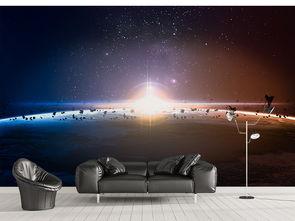 星空宇宙极光主题墙纸