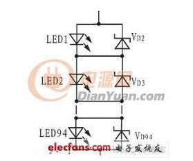 图1 LED串联驱动电路-怎样设计LED线性恒流驱动电路