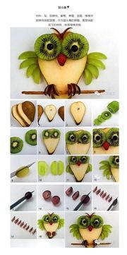 ...简单易学的卡通水果拼盘