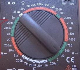 ...使用的万能表 200k和200m分别表示什么