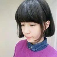 微信短发齐刘海女生头像小清新韩版