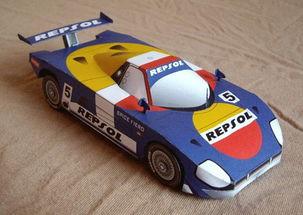 ... Fiero 赛车折纸模型图纸免费下载