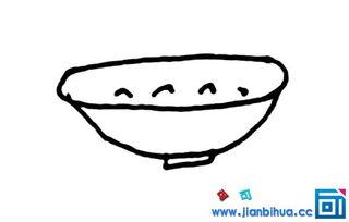 一碗粥简笔画怎么画 一碗粥的简单画法
