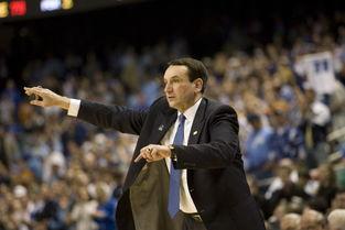 杜克大学明星老照片 老K教练指挥比赛