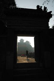 一个道士的回忆-离开山门前,在回首一望!-十一徒步武当看日出