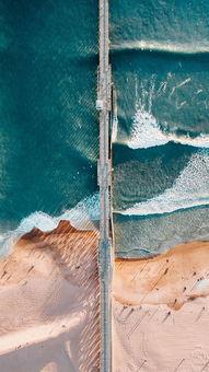 ...美高清夏日海岛QQ皮肤 清凉的大海手机QQ聊天背景图
