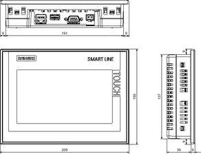 ...t 1000 IE V3 的尺寸图-西门子操作面板6AV6648 0BE11 3AX0