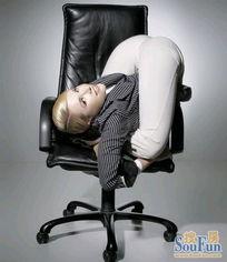 ...美女办公室演绎柔术挂历台历图