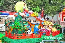 ...10年上海豫园新春民俗艺术灯会布展基本完成,世博元素和民俗风...