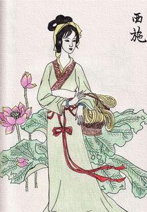 西施-古代四大美女绘画