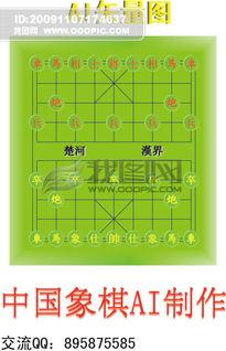 中国象棋AI制图矢量图下载 中国象棋AI制图矢量图放大不失真 中国象...