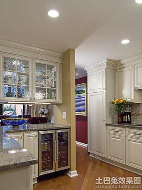 厨房隔断酒柜效果图 厨房隔断酒柜设计图片