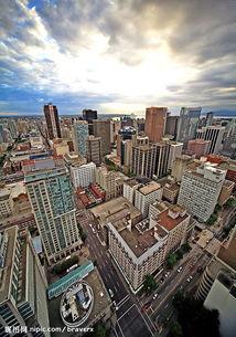 俯瞰城市中心图片