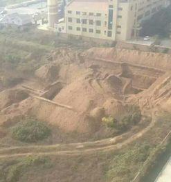 太原师范学院旧校区挖出一座古墓 网友 真坟头蹦迪