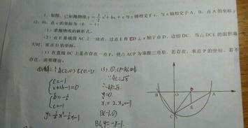 ...抛物线y等于二分之一x的平方加b x加c与y轴交于点c,与x轴 在线问答