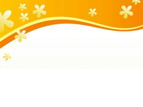 简约橙色小花PPT背景图片下载 PPT宝藏