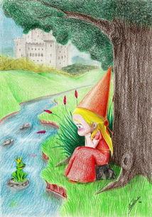 青蛙王子和小公主夏天的故事画分享