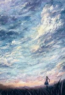 孤独-女人指天空的图片