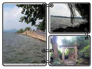杭州西湖(左图是西湖断桥,许仙和白娘子相会的地方哦;右图是美丽...