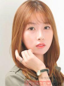 韩版中长发发型图片女