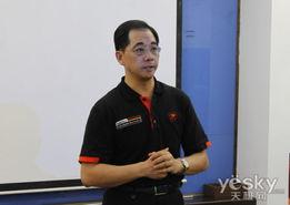 王总经理表达了对伟训品牌的未来寄望-全国IT媒体齐聚COUGAR 见证...