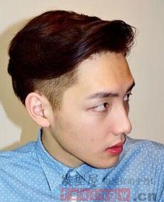 把两边剃掉男生发型图片