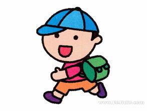 吉缘given20话-上学的学生简笔画画法,看着跟可吉有点像呢,都是一样的可爱又活泼...
