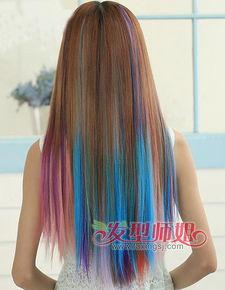2015年挑染发型 女生长发挑染发色精选