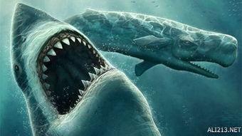 巨齿鲨的出现比最后一只恐龙至少还要晚4000万年.天哪,这同时也表...