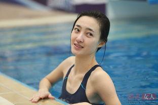 ...热议的焦点.女演员王丽坤跳水时的素颜照片,在节目播出后立即在...
