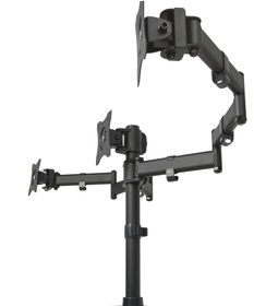 Triple Monitor Adjustable Mount Articulating Stand for 3 LCD Screens ...