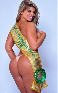 巴西真是个出美女的国度,环肥燕瘦各有千秋.夺得巴西第二届美臀大...