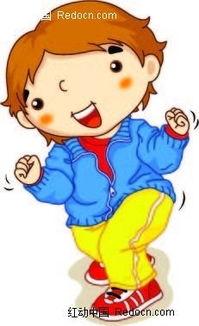 韩国卡通小男孩插图AI素材免费下载 编号2306920 红动网