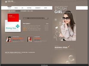 国际明星网站网页设计