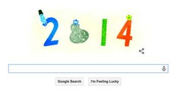 百度谷歌上演跨年LOGO大比拼
