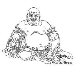 画,弥勒佛简单画法,弥勒佛的简笔画图片.弥勒佛(即弥勒菩萨摩诃...
