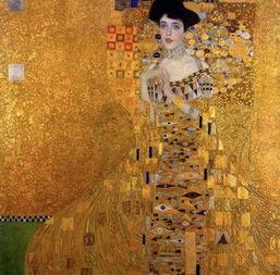 op 7 : 古斯塔夫・克林姆   作品名   《鲍尔夫人的肖像》   1.