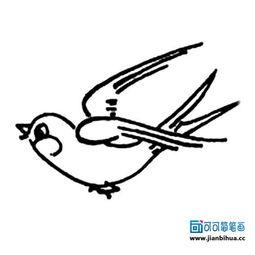 ...燕子简笔画图片大全,幼儿学画飞翔的小燕子简单画法.儿童怎样...