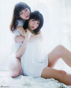 日本女星冈田奈奈和谷口megu近日拍摄了一套性感写真,她们相拥而...