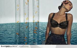 火辣辣的漂亮美女图片素材 带着胸罩感觉很爽的美女