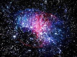 [看大脑的神经元会想到星空,但是... 可实际只是玻璃光纤灯在黑暗的屋...