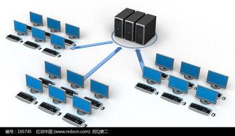 电脑服务器网络连接图片