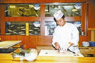 ...家餐厅的厨师在宰杀河豚 摄影/   -食用河豚26年后正式 解禁 河豚到底...