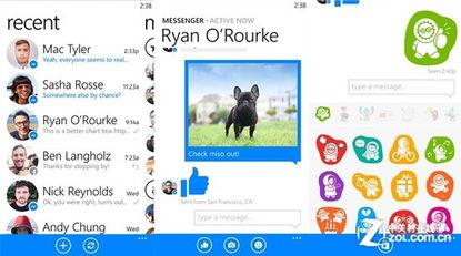 Facebook Messenger软件登陆WP8平台