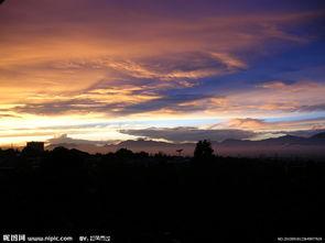 夕阳天空美景图片
