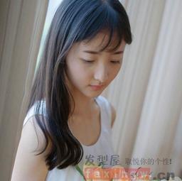 韩式中长发发型女图片